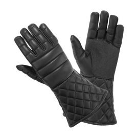 Leather fencing gloves